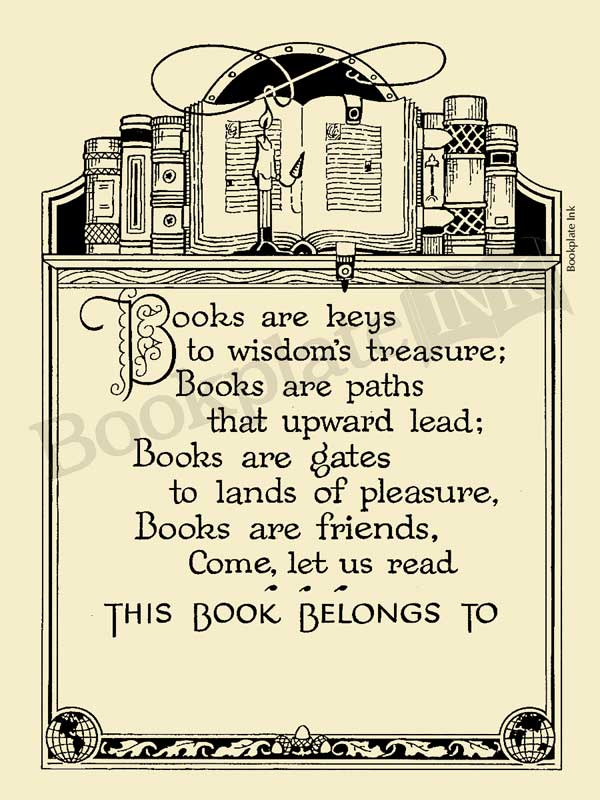 A104-Emilie-Poulson-poem-books-are-keys-bookplate