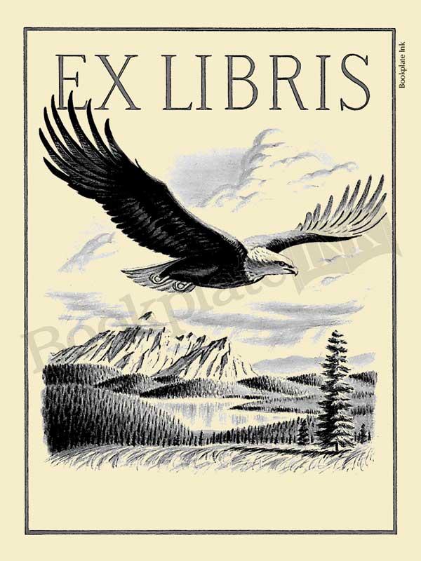 A111-majestic-flying-eagle-ex-libris