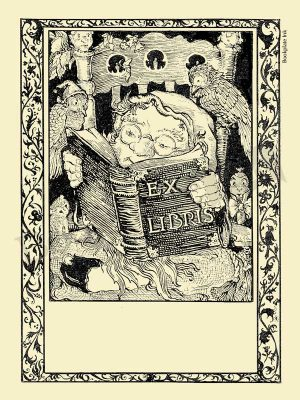 A116-gnome-and-birds-reading-bookplates