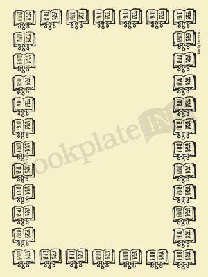B254-bookplate-border-open-books