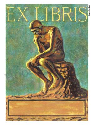 B43-The-thinker-sculpture-bookplates