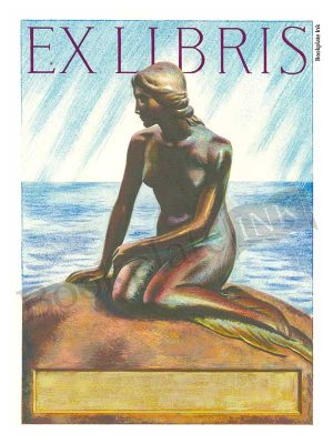 B55-Hans-Christian-Andersen-Little-Mermaid-ex-libris