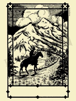 C001-Cowboy-on-horse-bookplate