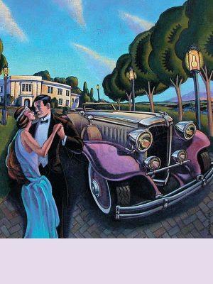 C104-Roaring-Twenties-couple-with-car-bookplate