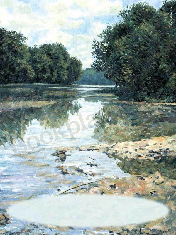 C107-Peaceful-river-scene-bookplate