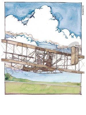 C111-biplane-aviation-bookplate