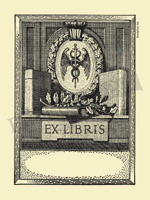D11-medical-bookplate-with-caduceus