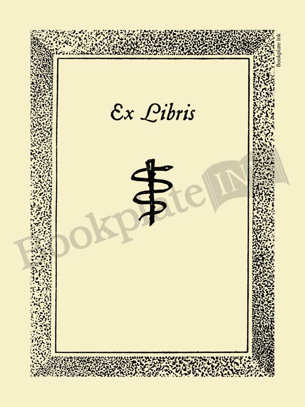 D16-medical-bookplate-with-serpent-caduceus