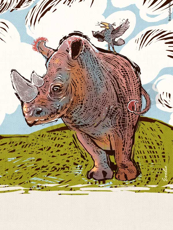 ES239-Rhinoceros-bird-bookplate