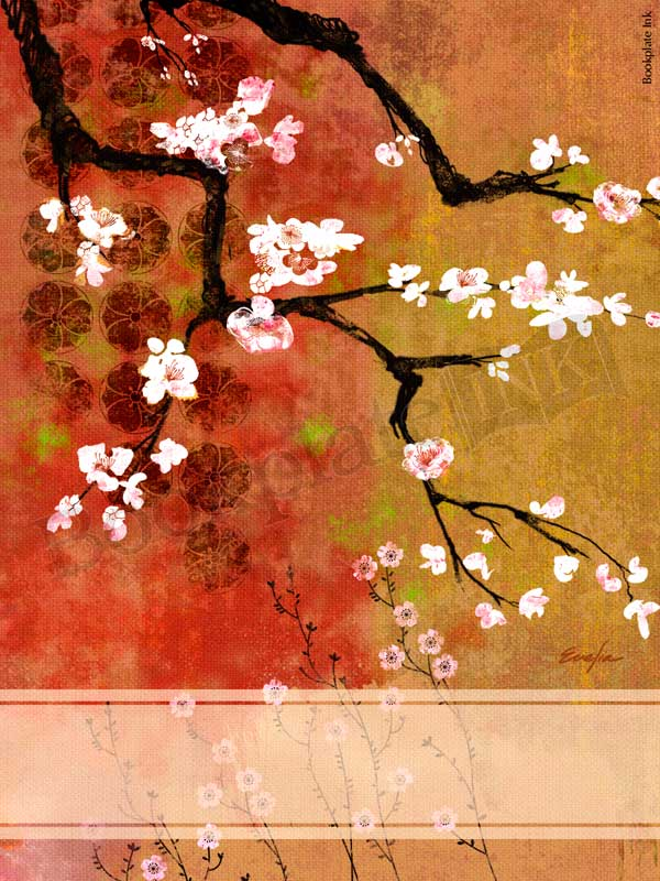 ES43-Japanese-cherry-Branches-bookplate