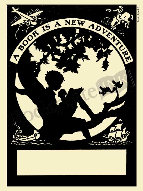 M101-boy-reading-in-tree-bookplate