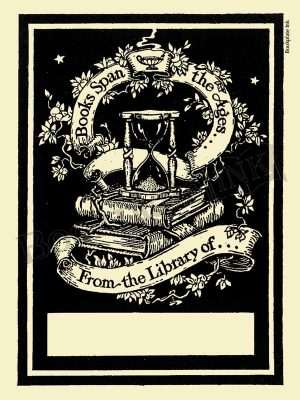 M103-Books-span-the-ages-hourglass-bookplate
