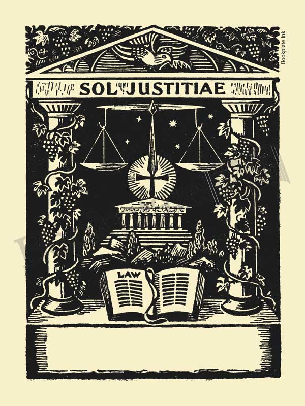 M603-Sol-Justitiae-legal-bookplate