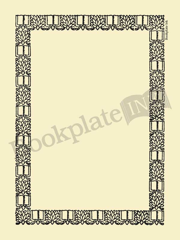 M753-ornate-border-bookplate