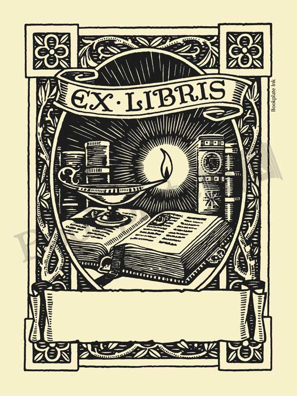 M777-Owen-Wise-oil-lamp-on-book-bookplate