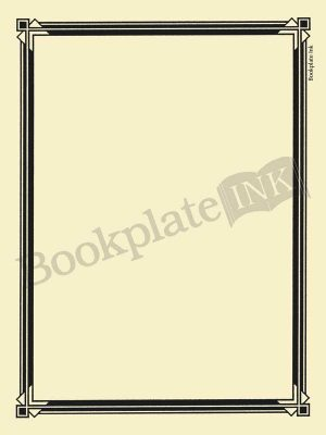 N100-Art-deco-border-bookplate