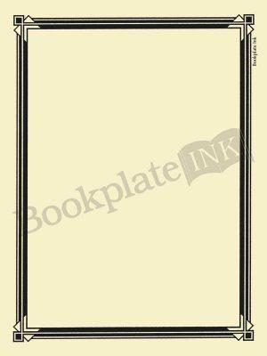 N100-Art-deco-border-bookplate