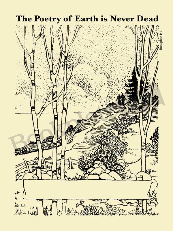 P101-Couple-strolling-on-path-bookplate