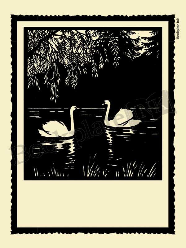S200-Scherenschnitte-swan-bookplate