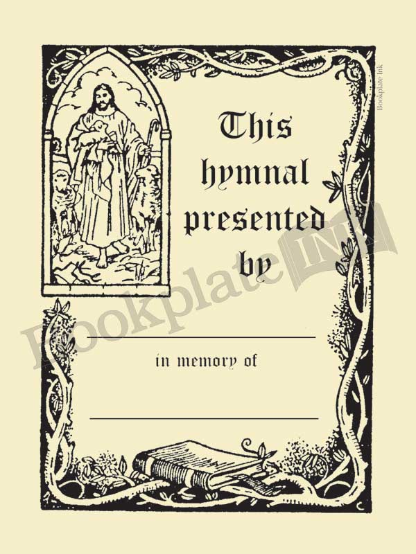 T5A - Owen Wise religious hymnal bookplate