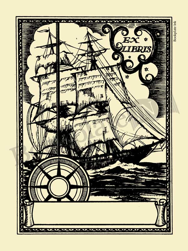W10-Sailing-ship-nautical-bookplate