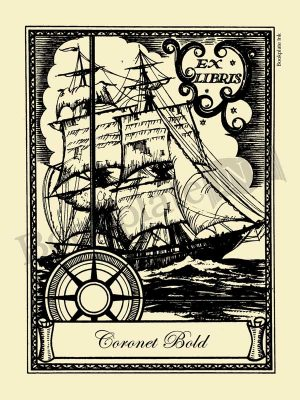 W10-Sailing-ship-nautical-bookplate_Coronet-Bold