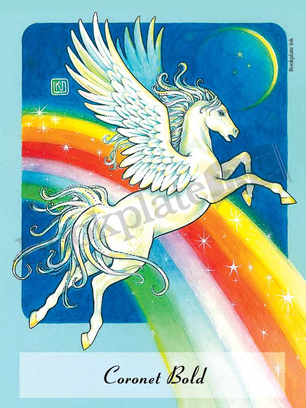 C204-pegasus-and-rainbow-bookplate