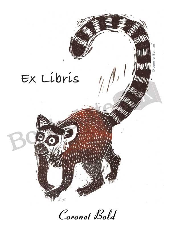 JB02-Lemur-Jennifer-Berman-ex-libris